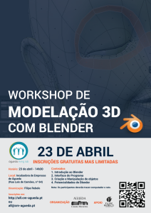 Workshop de Modelação 3D com #Blender no Águeda Living Lab