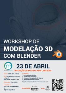 Workshop de Modelação 3D com #Blender no Águeda Living Lab