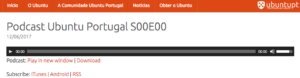 Novo Podcast em Português sobre #Ubuntu #UbuntuPT
