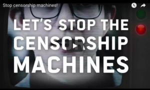 "[Vídeo] Deputados Europeus dos maiores grupos políticos publicam vídeo contra as ""máquinas de censura"" #FixCopyright #censorshipmachines"