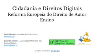 Cidadania e Direitos Digitais – Apresentação